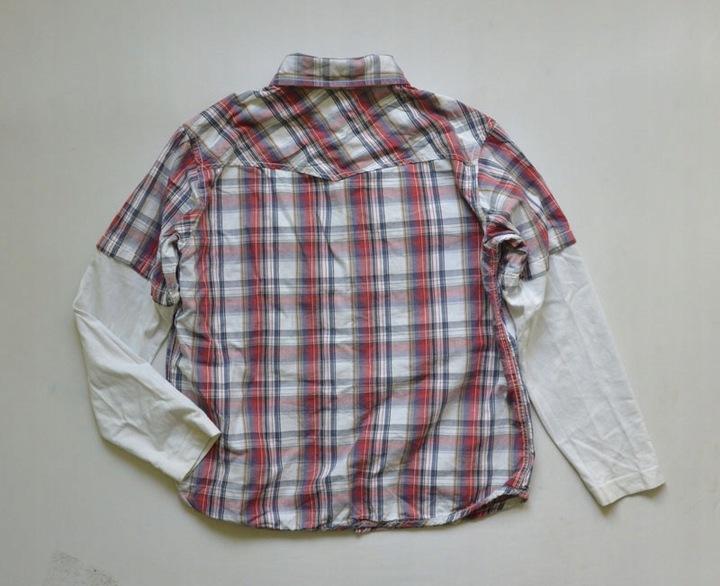 Koszula w kratkę bluzka krata 128/134 9831330765 Dziecięce Odzież DZ ZOKPDZ-8