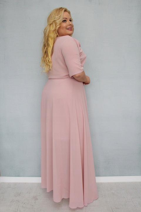 Elegancka długa wieczorowa suknia na wesele XL 42 9115217035 Odzież Damska Sukienki wieczorowe FO QOCSFO-8