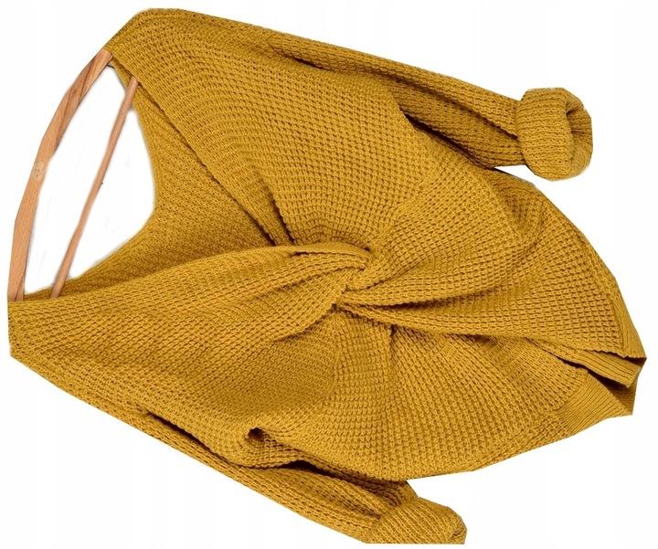 263 SWETER ODKRYTE RAMIĘ WIĄZANIE DWUSTRONNY 8570206502 Odzież Damska Swetry HF OHVFHF-1