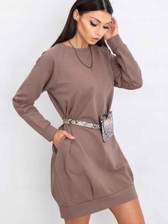 Sukienka-RV-TU-5184.93P - CZARNY; S/M 9627579348 Odzież Damska Sukienki SB JIYHSB-2