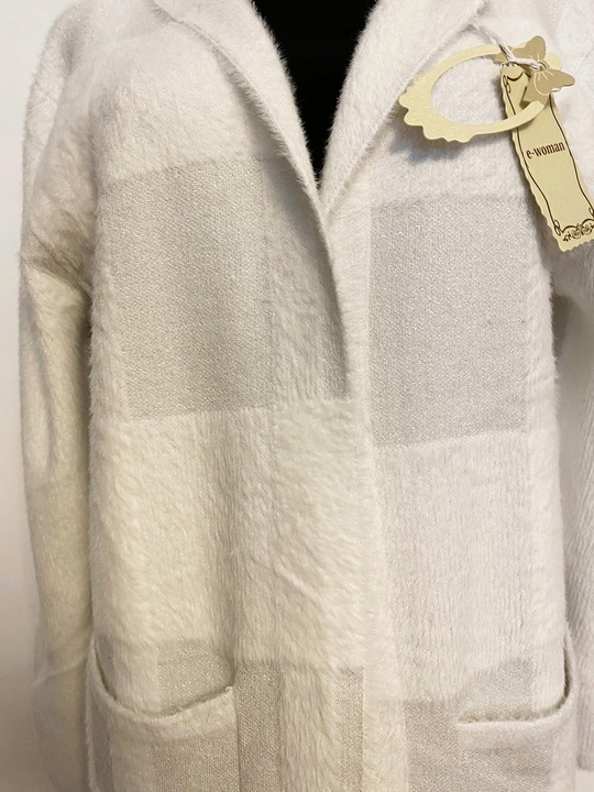 Długi kardigan z brokatem 9839620193 Odzież Damska Swetry CV HMYSCV-5
