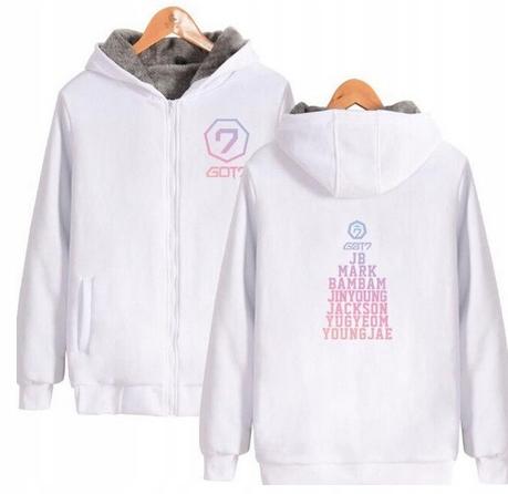 Warm sweater with KPOP hood GOT7 UNISEX 4XL 48 9658455954 Odzież Damska Topy AN PASNAN-6
