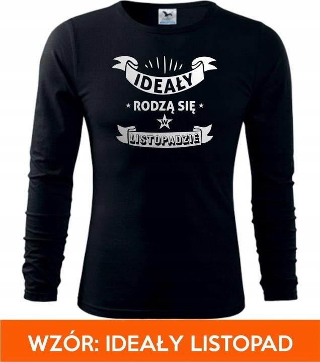 WYJĄTKOWA KOSZULKA NA URODZINY DLA NIEGO OKAZJA 9027768237 Odzież Męska Koszulki z długim rękawem ZG JWGFZG-3
