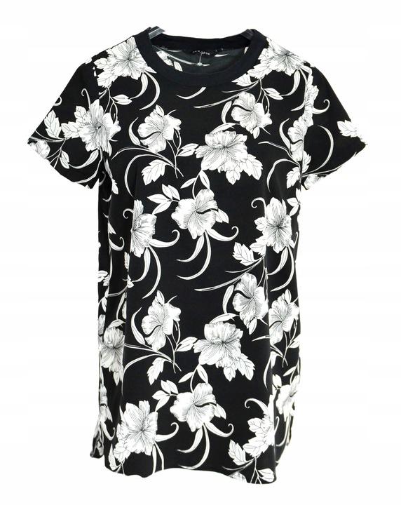 203 biało czarna bluzka NEW LOOK kwiaty r. 40 9726765186 Odzież Damska Bluzki JA FYDUJA-1