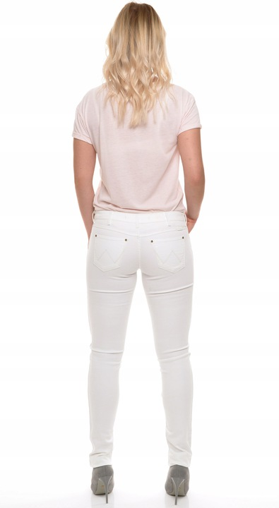 WRANGLER spodnie WHITE skinny low COURTNEY W29 L32 9450150386 Odzież Damska Jeansy CP FDOYCP-9