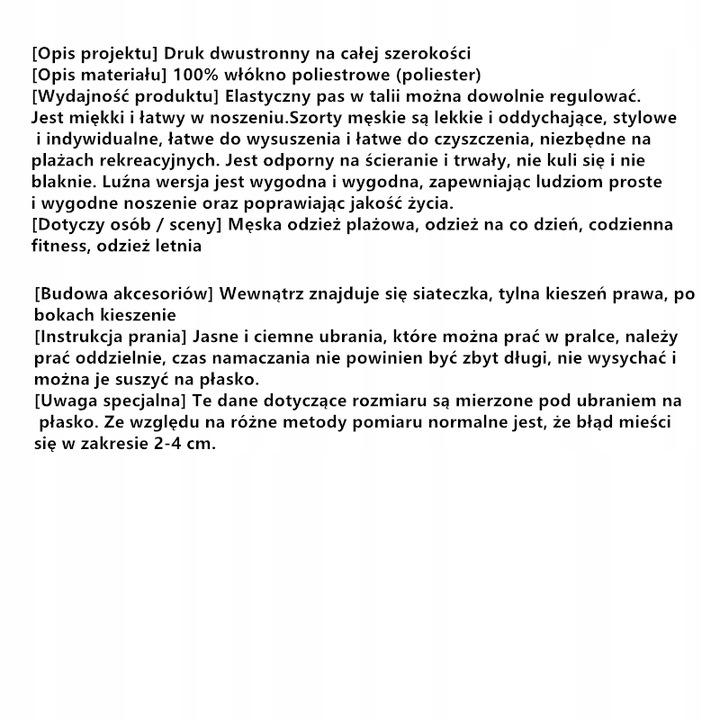 100% Poliester Szorty Ybn-703-B089 Rozmiar:XXL Blo 9552331141 Odzież Męska Spodenki TO AZCXTO-5