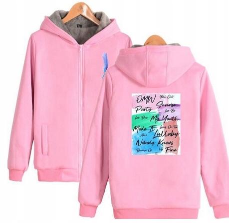Warm sweater with KPOP hood GOT7 UNISEX 4XL 48 9658270505 Odzież Damska Topy MG ZXKUMG-4