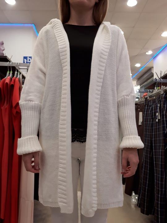 MODNY SWETER KARDIGAN DAMSKI IDEALNY NA JESIEŃ 9756878214 Odzież Damska Swetry GU JPHNGU-5