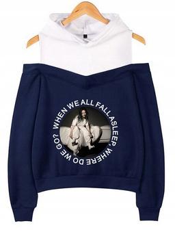 Warm hooded blouse Billie Eilish LATO S 36 9654104696 Odzież Damska Topy YU TWJPYU-3