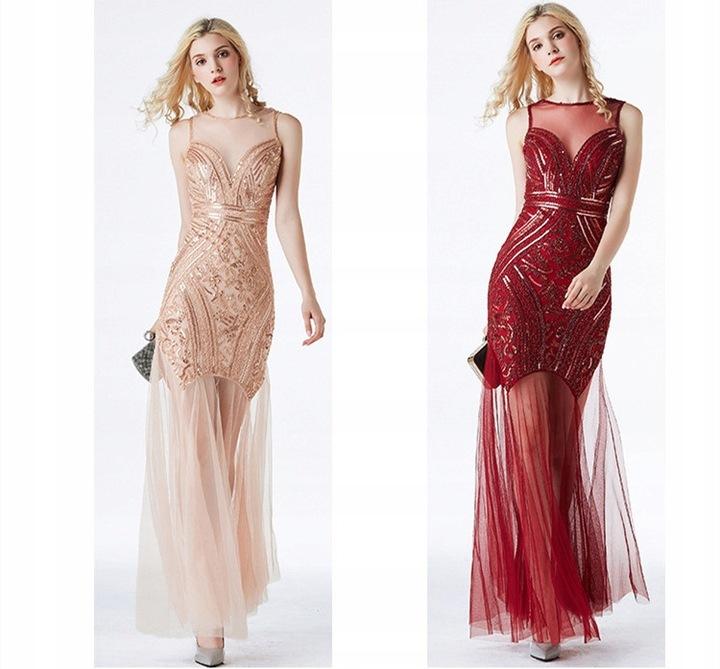 sukienka z cekinami suknia ślubna krÓtka sukienka 9625384473 Odzież Damska Sukienki wieczorowe PP NUZUPP-3