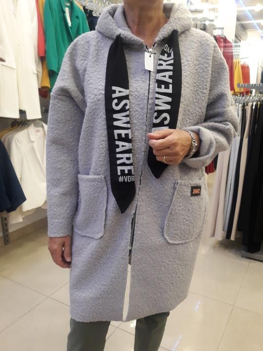 KARDIGAN NARZUTKA BESTSELLER Z KAPTUREM OVERSIZE 9783575696 Odzież Damska Swetry SX MCMQSX-8