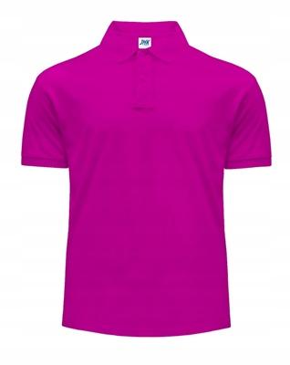 Koszulka męska Polo JHK FUCSIA roz L 9614385329 Odzież Męska Koszulki polo ZU GZVFZU-6