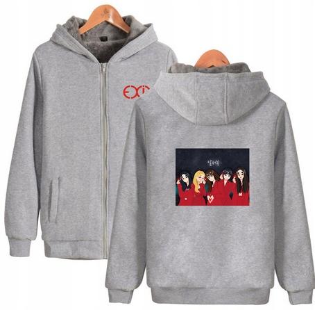 Warm blouse with EXID Hood 2019 XL 42 9658448542 Odzież Damska Topy CC SBVBCC-5