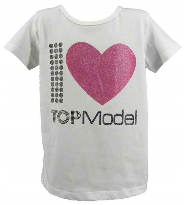 20047 TOP MODEL bluzka serce ORYGINAŁ 128 134 9920869355 Dziecięce Odzież AH ZYPRAH-1