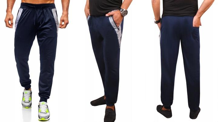 SPODNIE DRESOWE sport MĘSKIE dresy #422 grafit 3XL 9652498682 Odzież Męska Spodnie AT TFCYAT-7
