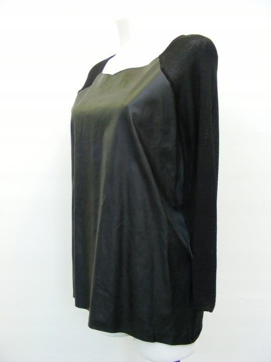 ZARA KNIT sweter skÓrzany przÓd R M 9701390295 Odzież Damska Swetry NA KOYHNA-1