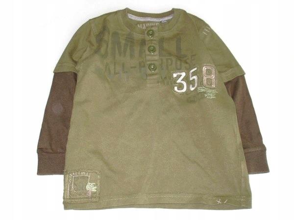 N E X T bluzeczka 2w1 khaki trzy guziczki 92/98 9933436798 Dziecięce Odzież ND WVHGND-3