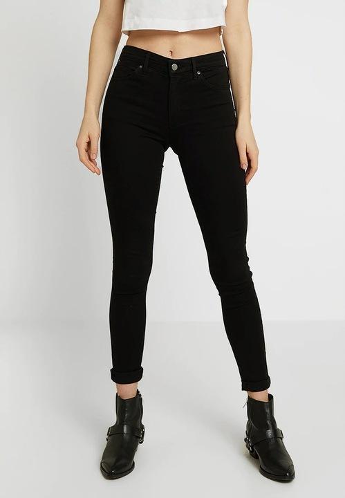 FA31 Topshop - jeansy SKINNY- czarne - 25/32 9734242720 Odzież Damska Jeansy NZ UVLWNZ-7