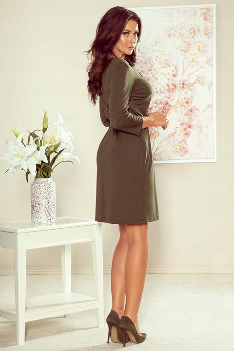 Sukienka z zamkiem KHAKI 273-1 XL 9446658909 Odzież Damska Sukienki UN HRNFUN-4