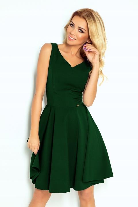 Rozkloszowana sukienka - dekolt w kształcie hit XL 9694713497 Odzież Damska Sukienki wieczorowe EW EIYTEW-9