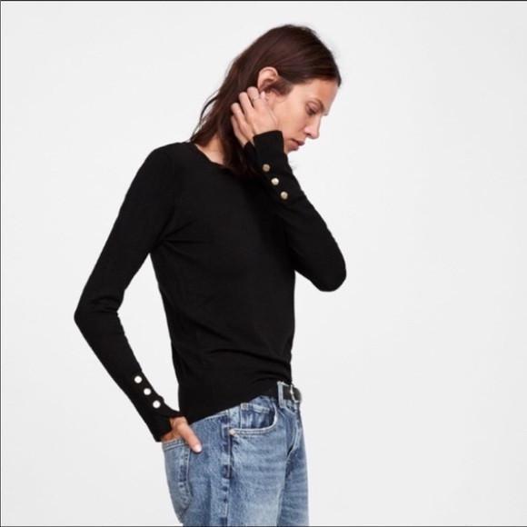 V3A404*ZARA SWETER GRANATOWY DAMSKI GUZIKI XL U01 9847250740 Odzież Damska Swetry XR FPBWXR-5