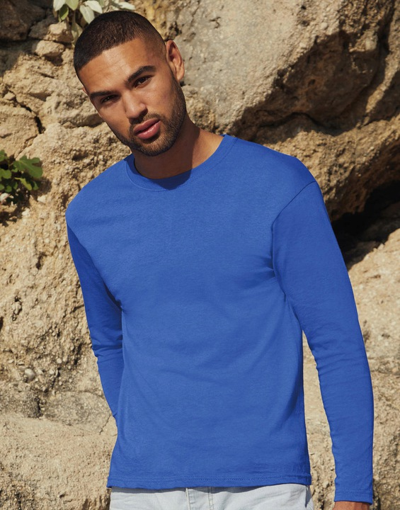 KOSZULKA Z DŁUGIM RĘKAWEM FRUIT royal blue - L 9103411437 Odzież Męska Koszulki z długim rękawem BY XELMBY-8