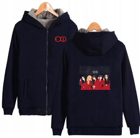 Warm blouse with EXID Hood 2019 S 36 9658458495 Odzież Damska Topy TF TBVZTF-2