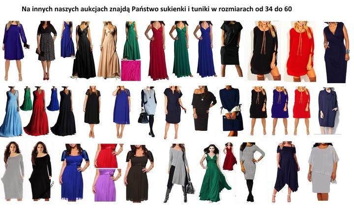 Linia Plus Size TUBA 100 r 42 44 46 48 50 52 54 56 9198034417 Odzież Damska Sukienki wieczorowe AS GTPMAS-2