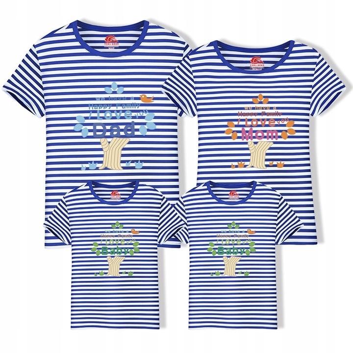 Rodzinne dopasowane strojeT-shirt w stylu rodzinny 9588437112 Odzież Damska Topy KJ MYAEKJ-4