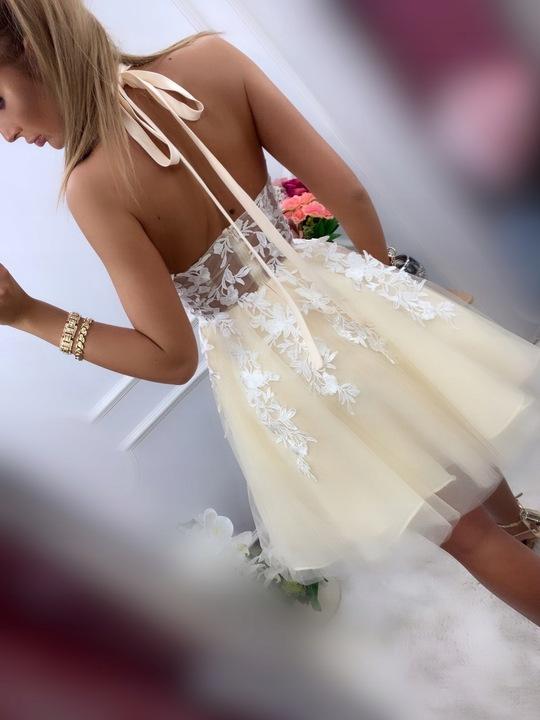 Lolita WRZOSOWA ROZKLOSZOWANA z tiulem S 9691860352 Odzież Damska Sukienki wieczorowe KY BQFCKY-4