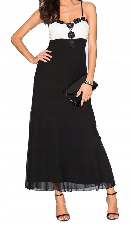 Sukienka czarna/biała impreza _BPC-BONPRIX_42 44 8367220393 Odzież Damska Sukienki wieczorowe LG OTJULG-8