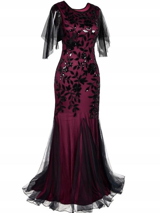 suknia wieczorowa cekinowa wesele suknia ślubna 9672040252 Odzież Damska Sukienki wieczorowe TD PNZYTD-3