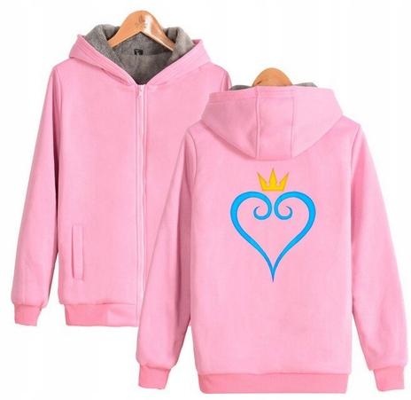 Warm hooded shirt with GRY Kingdom heart M 38 9658456541 Odzież Damska Topy CH DQKYCH-6