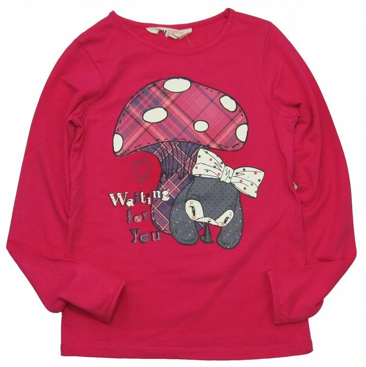 H&M *Bawełniana BLUZKA Bluzeczka DDF* 122/128 9454451075 Dziecięce Odzież WL CAEOWL-6