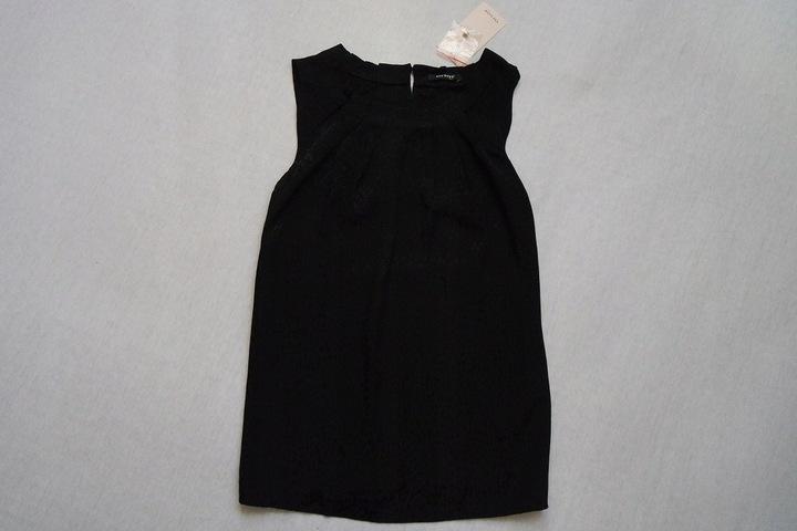 ORSAY bluzka czarna elegancka panterka NOWA___36/S 9716512408 Odzież Damska Bluzki MF LYMGMF-4