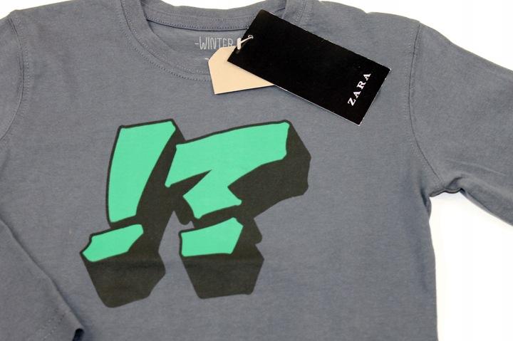 ZARA bluzka koszulka NADRUK 2-3 lata 98 cm 9610183698 Dziecięce Odzież TE VXJBTE-4