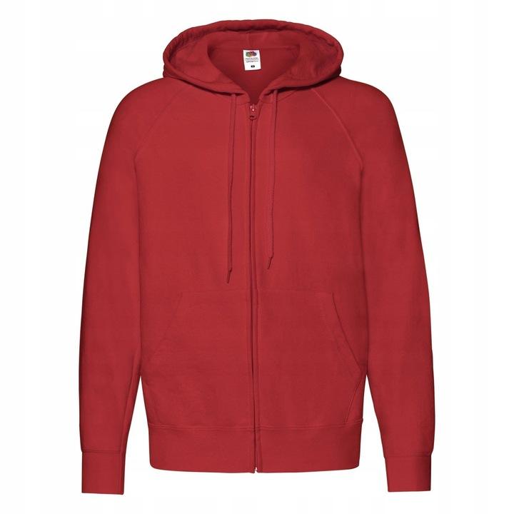 BLUZA Z KAPTUREM i ZAMKIEM LEKKA FRUIT RED XL 7922323051 Odzież Męska Bluzy YZ CNUZYZ-5