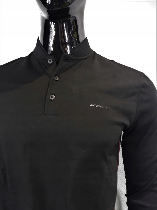 -25% CZARNA bluza POLO ANTONY MORATO rozmiar S 9570251752 Odzież Męska Bluzy GR IDNXGR-7