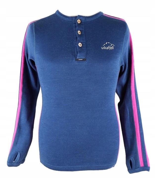 VIKAFJELL termo bluzka polo wełna wool merino 140 9672789397 Dziecięce Odzież PA RZJKPA-2
