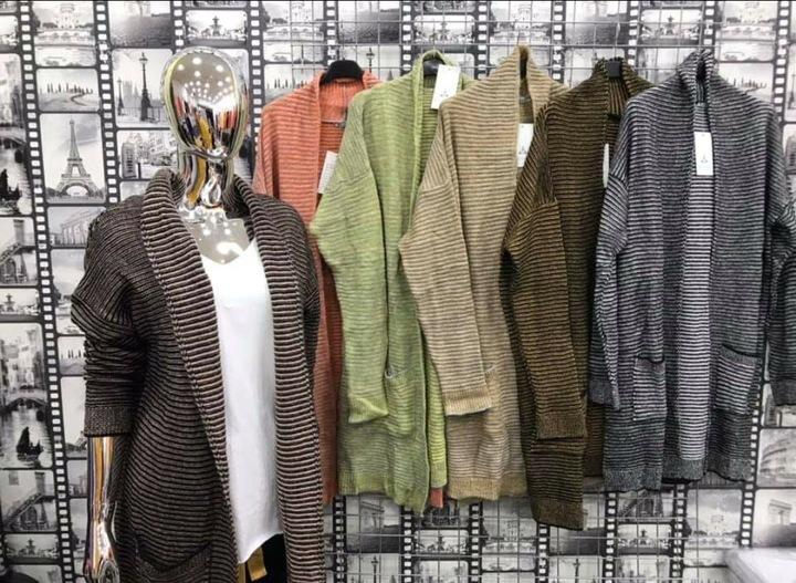 Sweter Kardigan LONG BRĄZ M-XXL forNell 9718609434 Odzież Damska Swetry TQ ZVETTQ-7