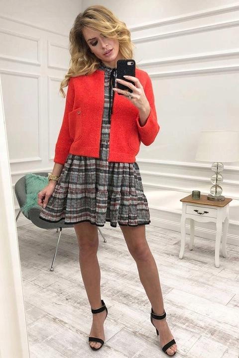 CUDNY sweter NARZUTKA KURTECZKA COCOMORE HIT ITALY 9774623348 Odzież Damska Swetry TJ ZIJZTJ-1