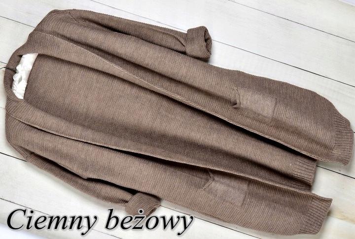 103 CIEPŁY TŁOCZONY KARDIGAN NARZUTKA SWETER 7591783939 Odzież Damska Swetry MH KVHIMH-4
