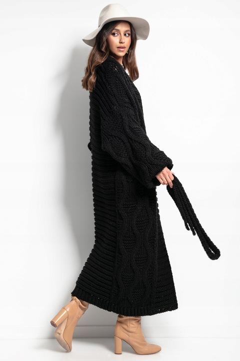DŁUGI ELEGANCKI Kardigan WYGODNY PŁASZCZ L/XL 9737323017 Odzież Damska Swetry AC SAWEAC-8