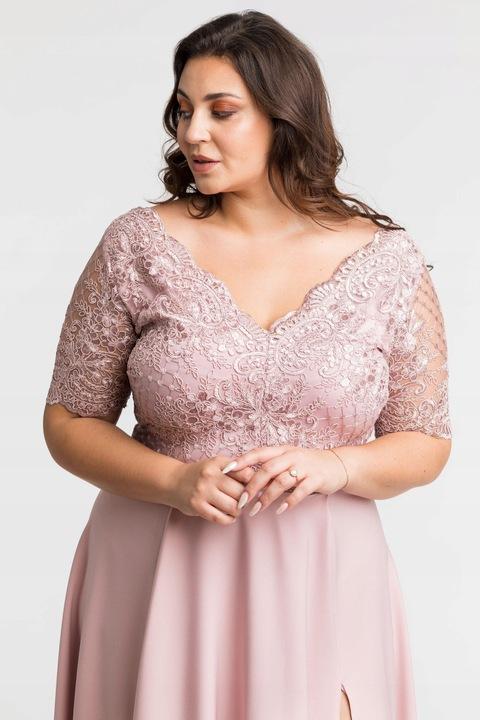 Zjawiskowa długa sukienka wieczorowa suknia 4XL 48 9543758075 Odzież Damska Sukienki wieczorowe NS OGUXNS-2