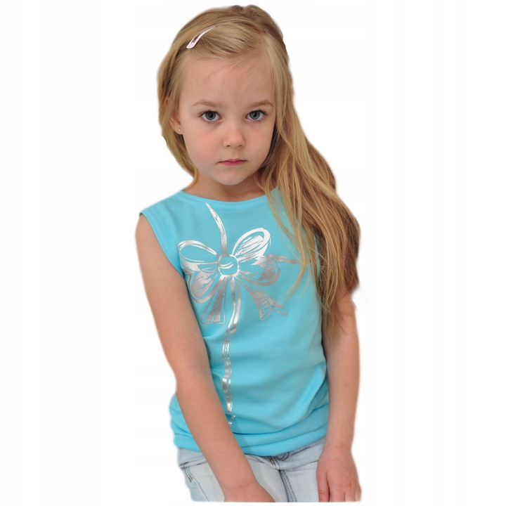 Bluzka błyszcząca kokarda r.110 OVERSIZE ROBIK 8906215606 Dziecięce Odzież AF TQUNAF-5