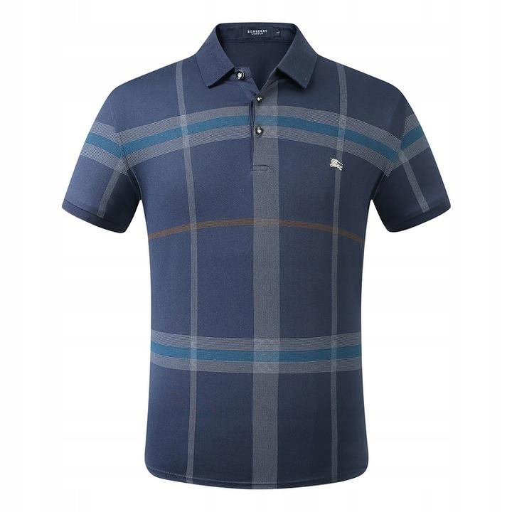 Burberry plaid short-sleeved lapel polo shirt 9617687768 Odzież Męska Koszulki polo XX TFPEXX-2