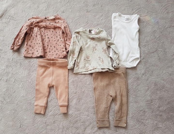 zestaw ubranek ZARA 62 1-3 mesięce bluzka spodnie 9615005145 Dziecięce Odzież JD BLVTJD-7