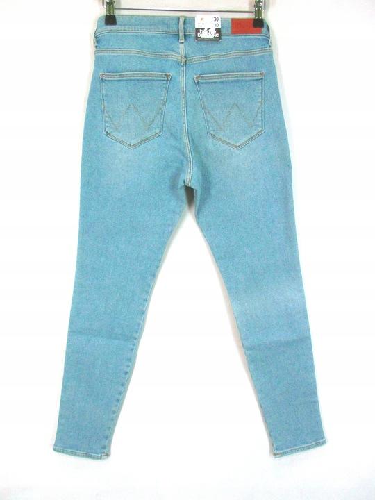Spodnie Damski Wrangler High Skinny W30 L30 9733432532 Odzież Damska Jeansy HK YZDUHK-4