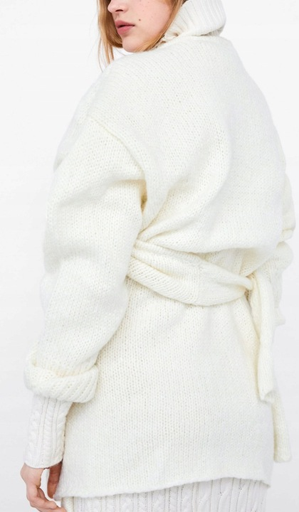 ZARA SWETER KARDIGAN OVERSIZE WEŁNA MOHER S/36 9836341328 Odzież Damska Swetry YY XGSUYY-6