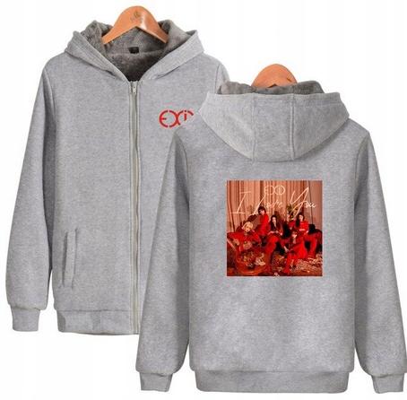 Warm blouse with EXID Hood 2019 S 36 9658451178 Odzież Damska Topy ZM PCOSZM-1